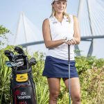 Lexi Thompson poses in Charleston, South Carolina during golf clinic