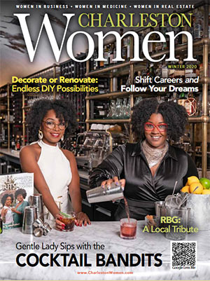 Charleston Women magazine cover for Winter 2020