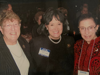Ginsburg with Former South Carolina Supreme Court Chief Justice Jean Toal (left) and Columbia attorney Vickie Eslinger at a North Carolina Bar Association event.
