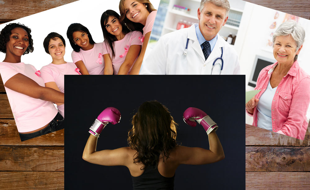 The Battle Against Breast Cancer: Four Uplifting Stories photo montage