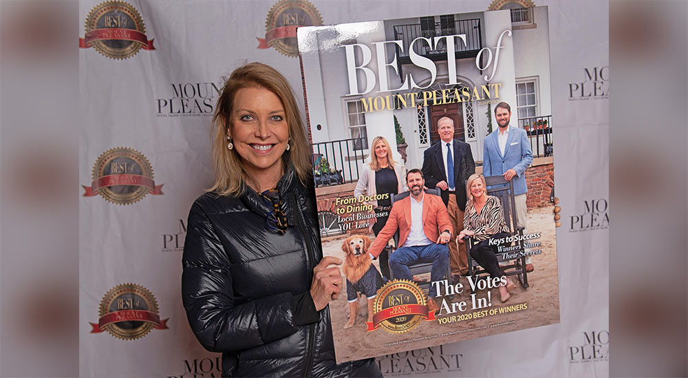 Juli Kaplan displays recent cover shot for Best of Mount Pleasant Magazine
