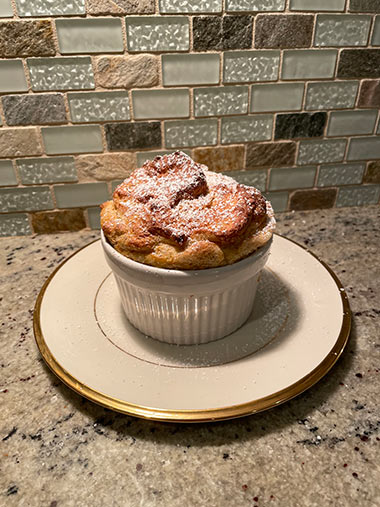 Lindsay's souffles receive the powdered sugar treatment