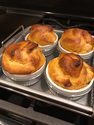 Pamela's souffles, right out of the oven