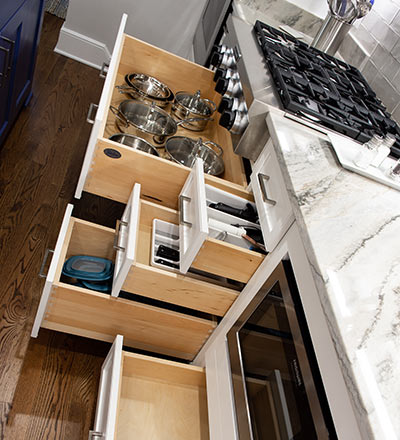 A functional kitchen is key, and it all starts with well-organized cabinets.