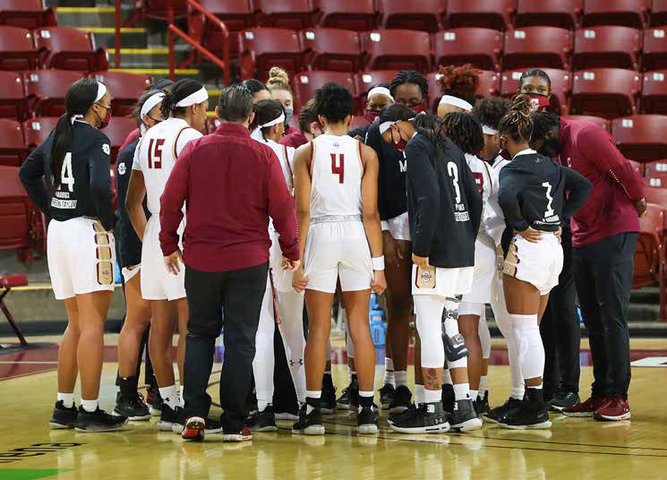 Members of the College of Charleston's Women's Basketball team. (Photo provided by College of Charleston Athletics)