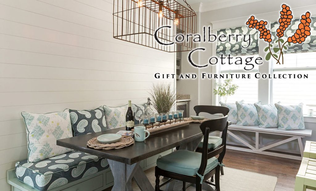 Coralberry Cottage, Mount Pleasant, South Carolina's premier source for coastal casual furnishings.